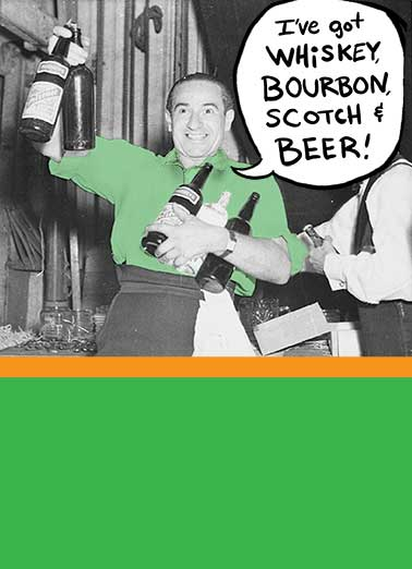 Whisky Bourbon Funny St. Patrick's Day Card